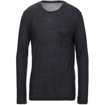 《セール開催中》OSKLEN メンズ T シャツ ブラック S レーヨン 80% / シルク 20%