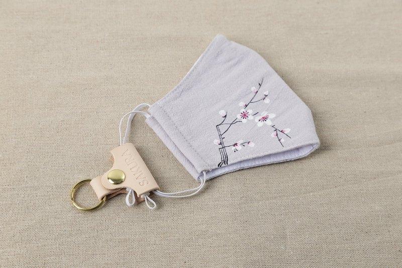 口罩标识牌 6pcs/套 皮革标签 钥匙扣环 耳机线收纳
