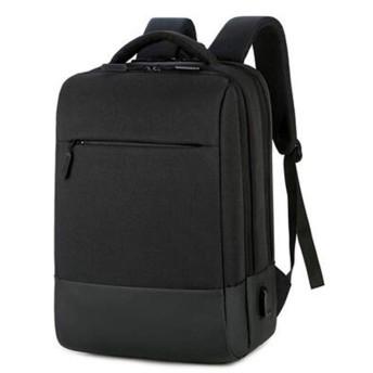 QY ラップトップバックパック スタイリッシュなラップトップバックパック バックパック ビジネスカジュアルコンピューターバッグ ミズ ビジネス ランドセル ファッション (Color : Black, Size : 30xx17x43cm)