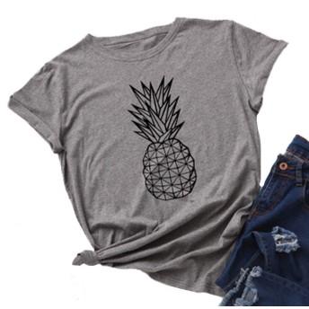 YourTops レディース Pineapple T-シャツ Summer Vibes シャツ
