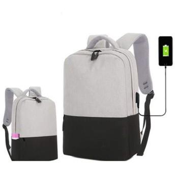 QY ラップトップバックパック ラップトップバックパックビジネス旅行USB充電ポート付きカジュアルリュックサック防水男性/女性15.6インチラップトップ (Color : Black)