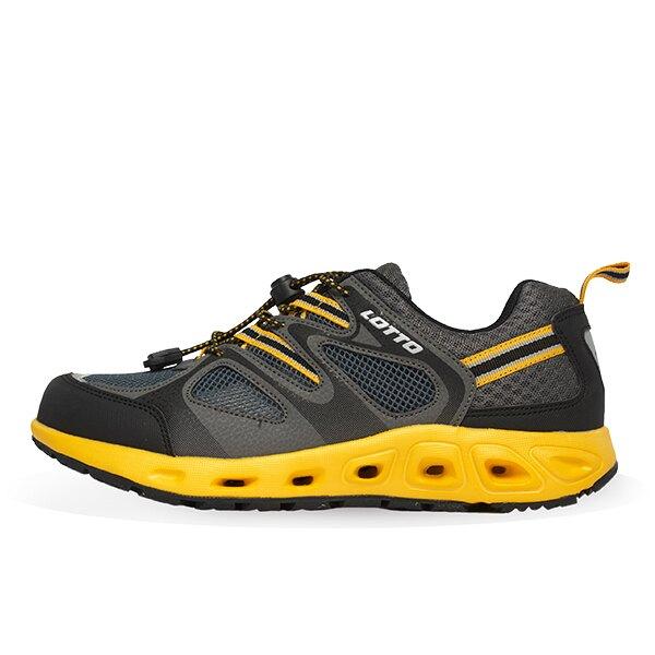 【滿額再折$100】LOTTO樂得-義大利第一品牌 男款征服者水陸兩用運動鞋 [2000] 黑黃【巷子屋】