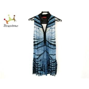 ヴィヴィアンタム ワンピース サイズ0 XS レディース 美品 - ブルー×黒×アイボリー 新着 20200312