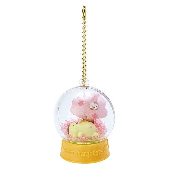 小禮堂 布丁狗 水晶球雪球造型吊飾《黃》雪球掛飾.擺飾.燦爛櫻花系列