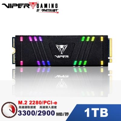 VIPER美商博帝 VPR100 RGB 1TB M.2 2280 PCIE SSD固態硬碟