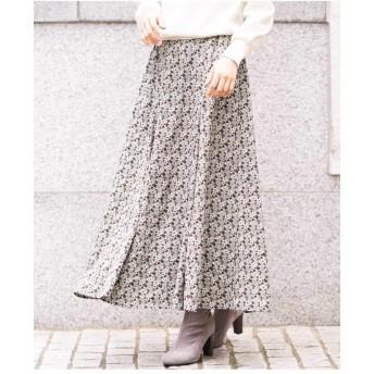 アー・ヴェ・ヴェ(a.v.v) ヴィンテージ小花フレアスカート【グリーン/M】