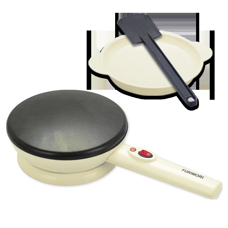 【日本富力森FURIMORI美味薄餅機】春卷皮 煎餅鍋 春餅機 烙餅機 電餅鐺 蛋捲機 煎烤機【AB534】