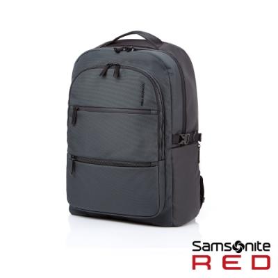 【4/6~4/19 10:00 買就送700超贈點】Samsonite RED HAESOL 實用現代款筆電後背包M 15.6吋(灰)