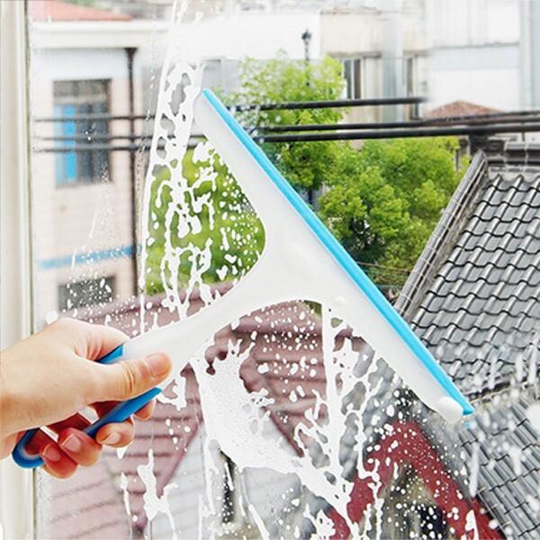 居家寶盒玻璃刮水器 窗刮刀 防滑軟膠玻璃刷 軟膠玻璃刮水器 汽車清潔器 浴室瓷磚地板刮 擦窗器