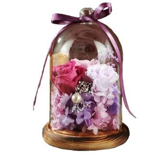 LHT 完成したガラス不滅の花は、花バレンタインデーの の誕生日プレゼントをプリザーブドローズ 造花 (Color : A)