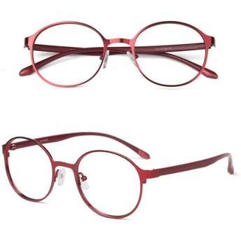 GSKA 老眼鏡 ブルーライトカット おしゃれ メンズ レディース PCメガネ 軽量 シニアグラス バネ蝶番付き 疲労の軽減 リーディンググラス ブラック レッド