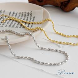 【DINA 蒂娜珠寶】簡約二用 925純銀項鍊(HFH23489)