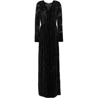 《セール開催中》ALBERTA FERRETTI レディース ロングワンピース&ドレス ブラック 40 アセテート 84% / シルク 10% / ポリウレタン 6%