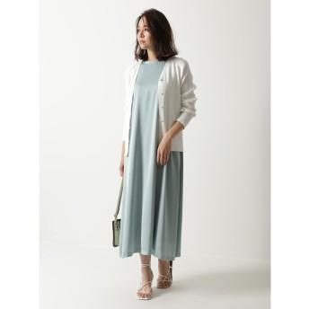 【ミラオーウェン/Mila Owen】 Tシャツライクサテンマキシワンピース