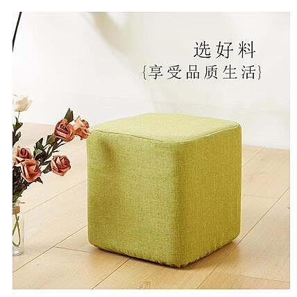 純色方凳套罩加厚棉麻椅子套腳踏套罩鬆緊套化妝凳套鋼琴凳套定做
