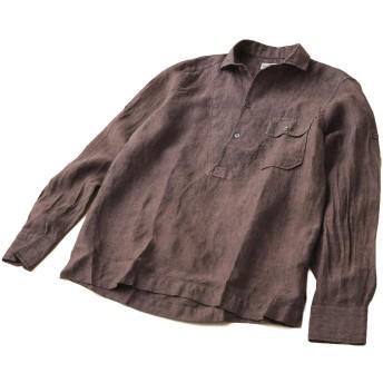 ナノ・ユニバース(nano・universe) カプリオープンカラーシャツ 39 ブラウン Bagutta