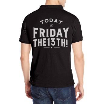 Friday The 13Th フライデー ザ サーティーンス ポロシャツ 半袖 Tシャツ メンズ バックプリント シンプル ゴルフウェア スポーツポロシャツ カジュアル 無地 吸汗速乾 きれい 男の子