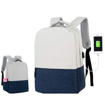 QY ラップトップバックパック ラップトップバックパックビジネス旅行USB充電ポート付きカジュアルリュックサック防水男性/女性15.6インチラップトップ (Color : Blue)