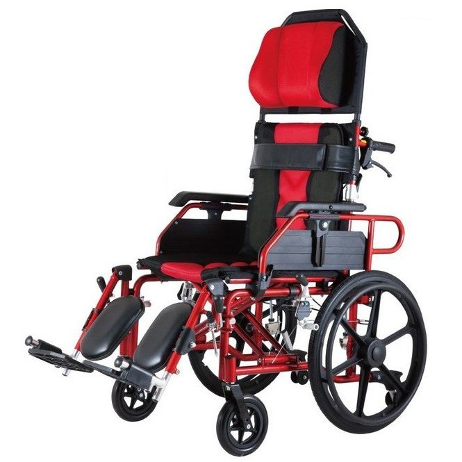 【海夫健康生活館】必翔 手動輪椅 自助型/高背/躺式/移位/18吋座寬(PH-185A)