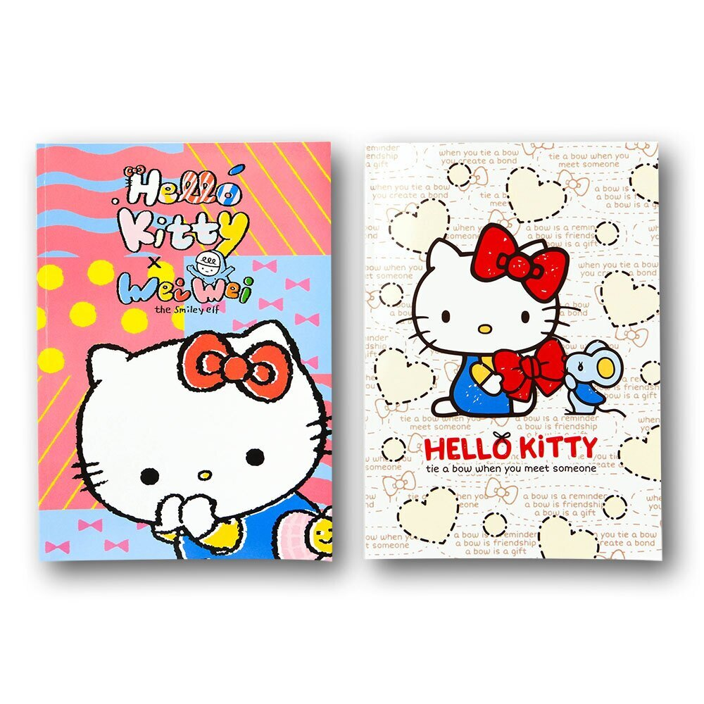 Hello Kitty 13K浮水壓線空白筆記本(授權)(2入裝)【888便利購】