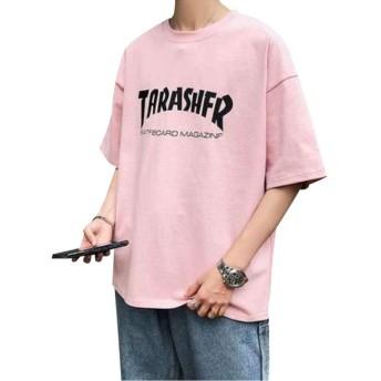Boxuan Tシャツ メンズ 半袖 夏 ゆったりトップス 大きい サイズ カジュアル Tシャツ