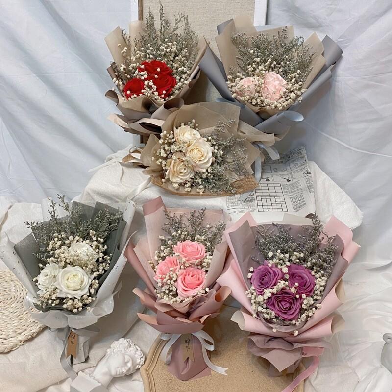 晞我愛你 玫瑰乾燥花束 漂亮花束 畢業花束 母親節花束 情人節花束