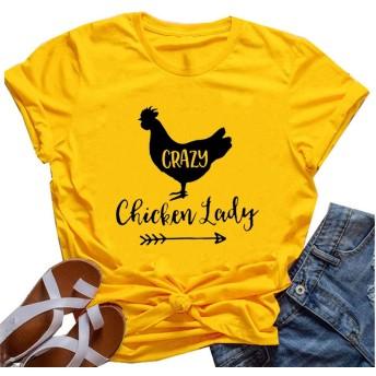 YourTops レディース Crazy Chicken Lady T-シャツ