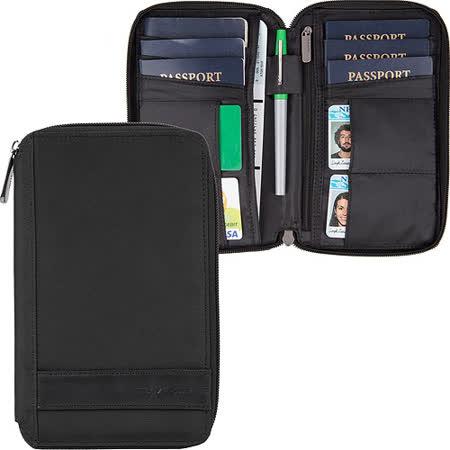 《TRAVELON》簡約拉鍊防盜證件護照夾(黑)