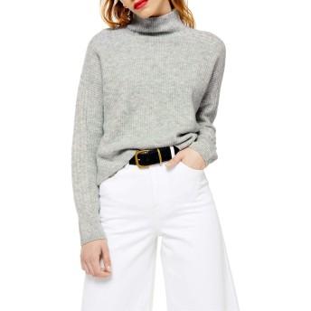 トップショップ アウター ニット・セーター Topshop Funnel Neck Crop Sweater (Regula Grey レディース [並行輸入品]
