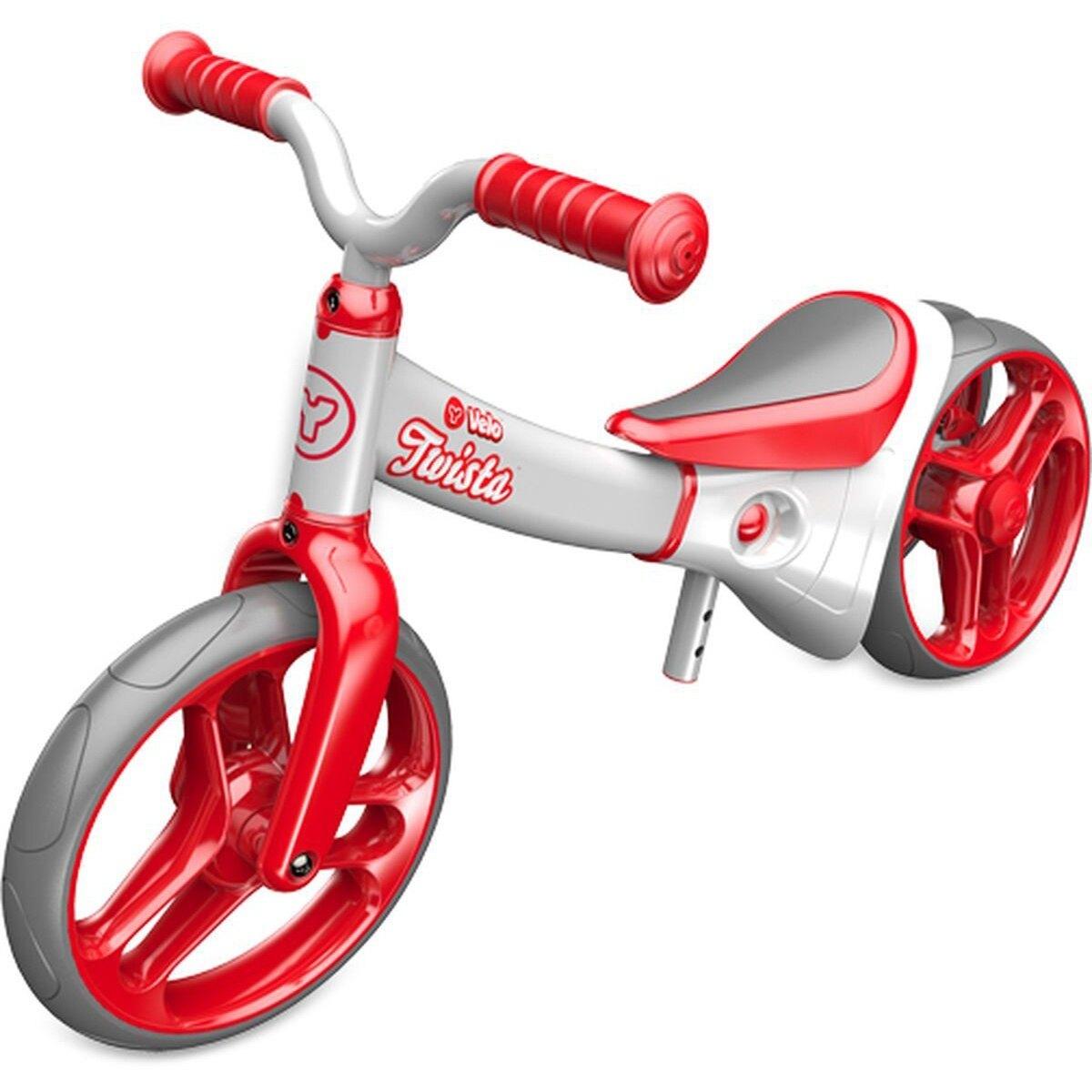 【加贈大禮包】YVolution Velo Twista 平衡滑步車-扭輪款-紅 *哈樂維台灣總代理*