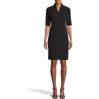 ANNE KLEIN(アンクライン) トップス ワンピース Anne Klein Zip Front Sheath Dress Anne Black レディース [並行輸入品]