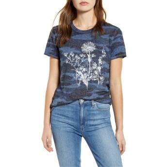 ラッキーブランド トップス Tシャツ Lucky Brand Floral Camo Print Graphic Te Blue Multi レディース [並行輸入品]
