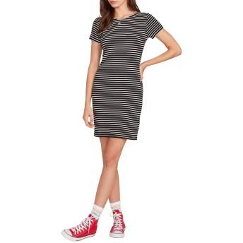 VOLCOM(ボルコム) トップス Tシャツ Volcom Dayze Dayz Stripe T-Shirt Dress Black Whit レディース [並行輸入品]
