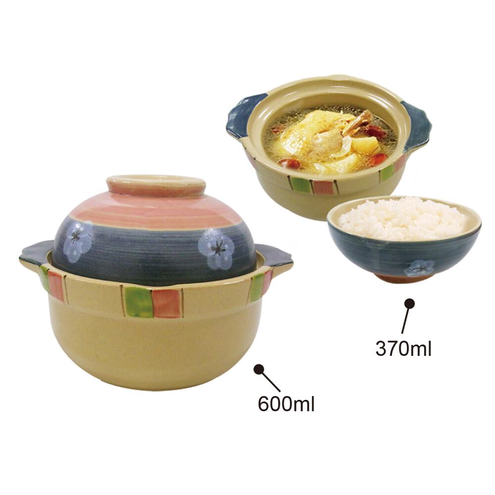 日本製手造手繪 砂鍋6吋 蓋碗兩用砂鍋 108gu-565