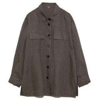 ミラオーウェン Mila Owen セットアップカバーオールシャツ (グレー)