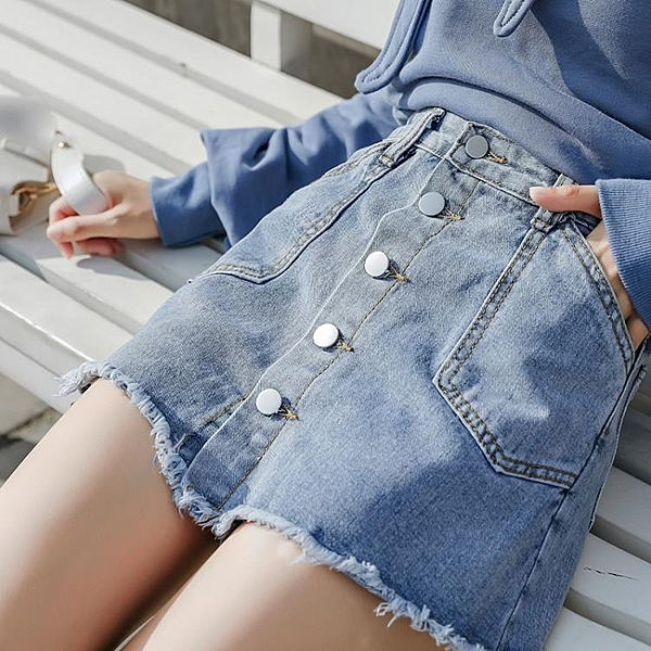 秋冬季新款裙子韓版顯瘦A字裙學生裙褲牛仔裙高腰半身裙女夏短裙