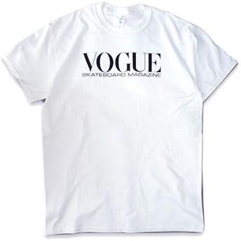Dear Skating VOGUE SKATEBOARD TEE 18420 VOGUEロゴプリント 半袖Tシャツ 4カラー 7845726 (WHITE, L)