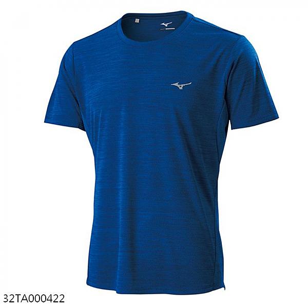 MIZUNO 男裝 短袖 T恤 上衣 吸汗快乾 伸縮彈性 透氣 麻花藍【運動世界】32TA000422
