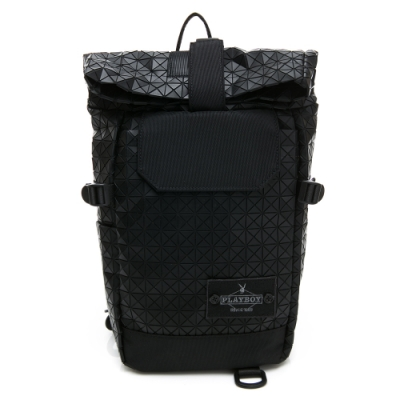 PLAYBOY 單肩背包 亦可做後背包 lifestyle系列 黑色 192-9001-09-7