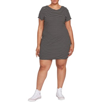 VOLCOM(ボルコム) トップス Tシャツ Volcom Dayze Daze T-Shirt Dress (Plus Si Black Whit レディース [並行輸入品]