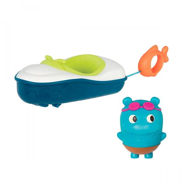 《 美國 B.toys 感統玩具 》噗拉魚動力小艇 / JOYBUS玩具百貨