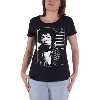 Jimi Hendrix T Shirt Distressed 新しい 公式 レディーズ Skinny Fit Size S