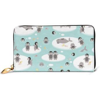 ベビーペンギン 財布 レディース 長財布 大容量 本革 ファスナー ウォレット 小銭入れ 軽量 薄型 付人気 可愛い プレゼント