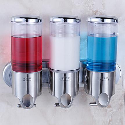 酒店浴室不銹鋼壁掛式掛壁手動沐浴露瓶子盒子給皂液器洗手液器 - 風尚3C