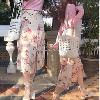 2色 花柄スカート