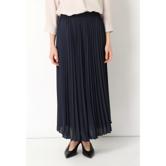 OLの味方 OLの味方 / プリーツスカート ロング・マキシ丈スカート,ネイビー
