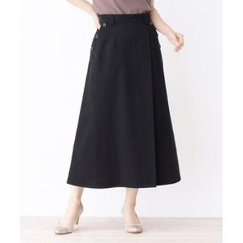 【grove:スカート】◆サイドボタンチノフレアスカート