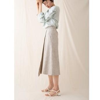 【sophila:スカート】コットンミックスツイードスカート