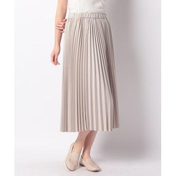 マーコート pleats skirt レディース BEIGE f 【MARcourt】