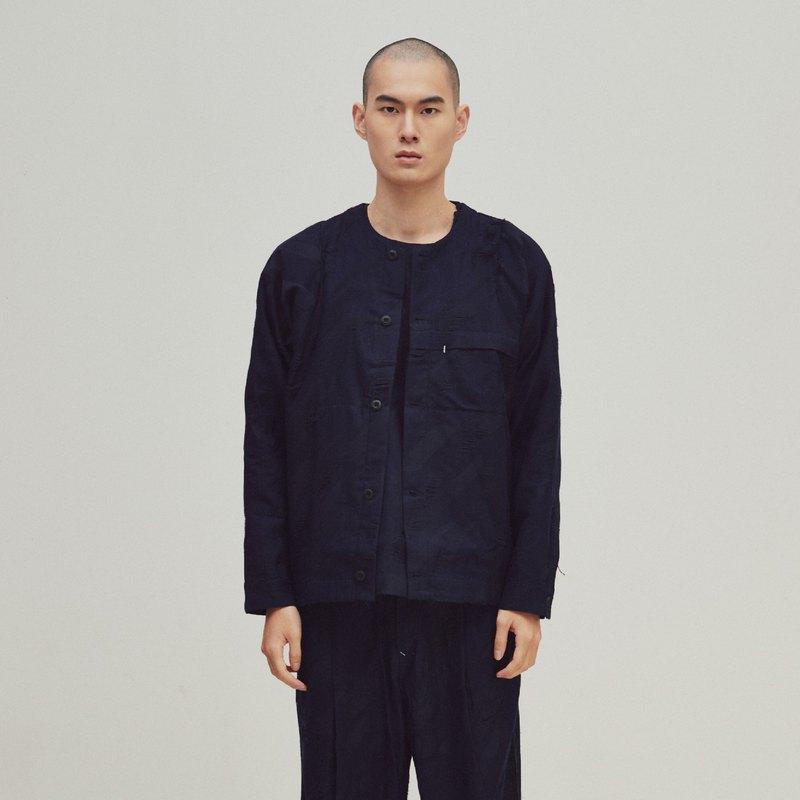 DYCTEAM - EVOLVE(D) - Houndstooth pattern collarless jacket